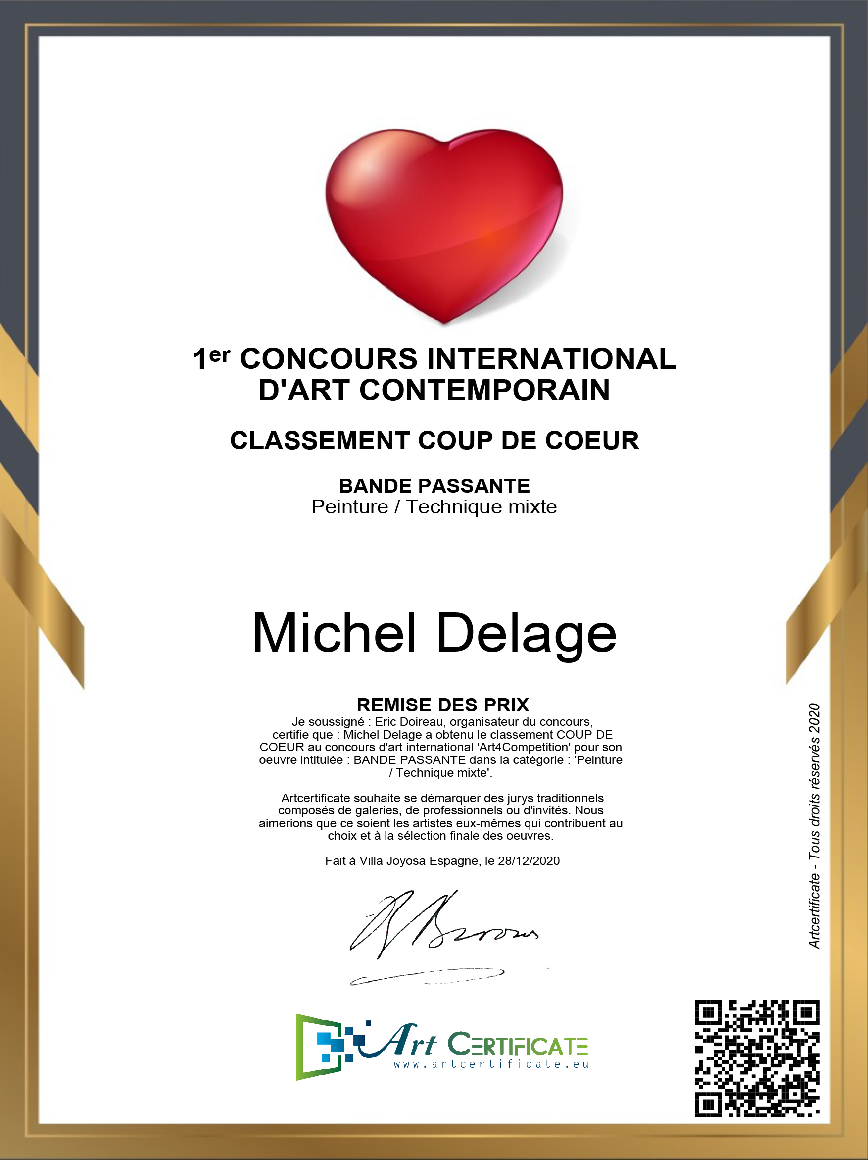 Coup de coeur - Michel Delage